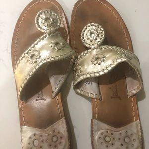 Jack Rogers Navajo silver sandal. 9M